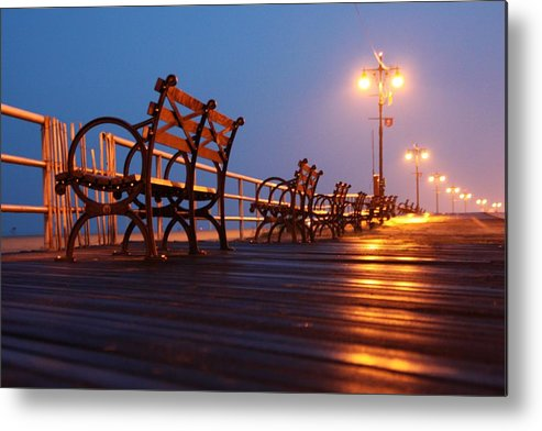 Boardwalk Metal Print featuring the photograph Boardwalk by Mitch Cat