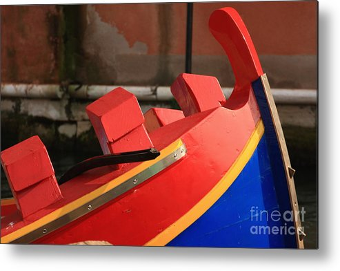 Venice Metal Print featuring the photograph Boat In Venice by Michael Henderson