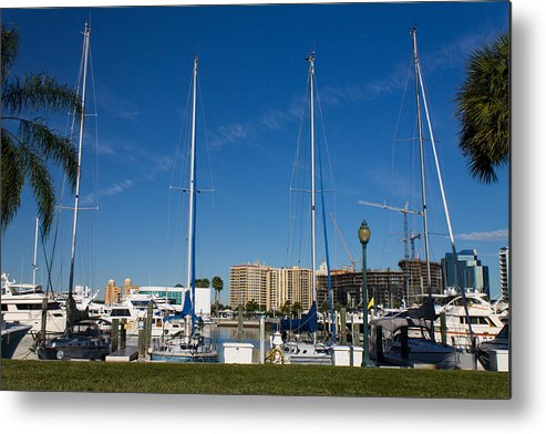 Marina Jacks Metal Print featuring the photograph Boater's Paradise by Michael Tesar