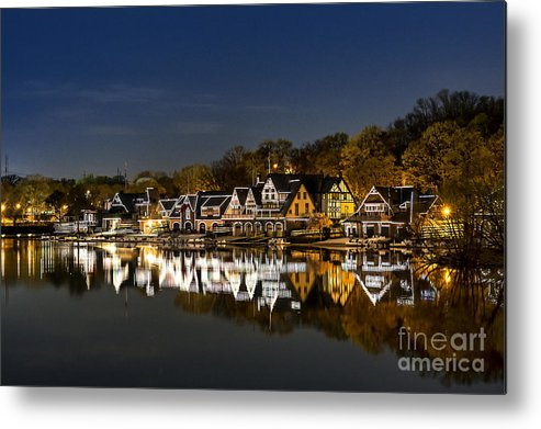 Boathouse Row Metal Print featuring the photograph Boathouse Row by John Greim