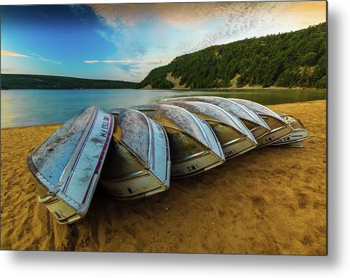 Landscapes Metal Print featuring the photograph Boats At Rest by Dan Fearing