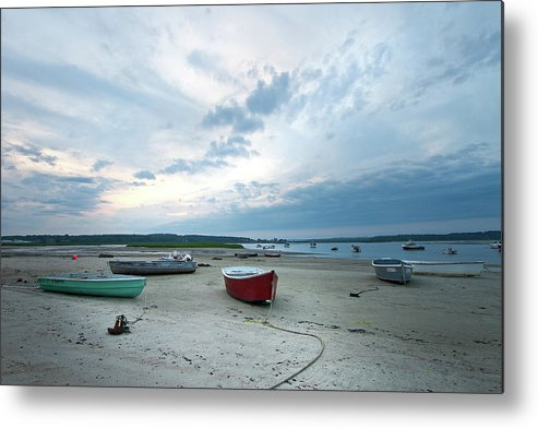Scarborough Metal Print featuring the photograph Boats On The Beach by Ed Fletcher