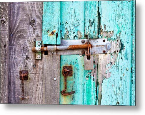 Area Metal Print featuring the photograph Bolted Door by Tom Gowanlock