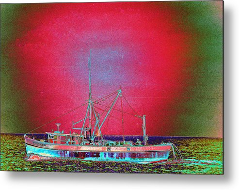 Fishing Boat Metal Print featuring the photograph Bonaker by Richard Henne