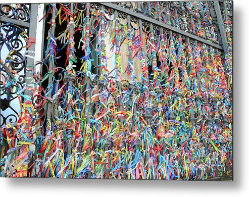 Bonfim Metal Print featuring the photograph Bonfim Wish Ribbons by Ralf Broskvar