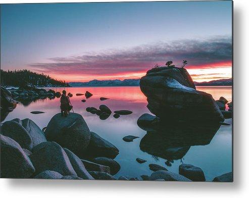 Metal Print featuring the photograph Bonsai Rock Sunset by Conner Koch