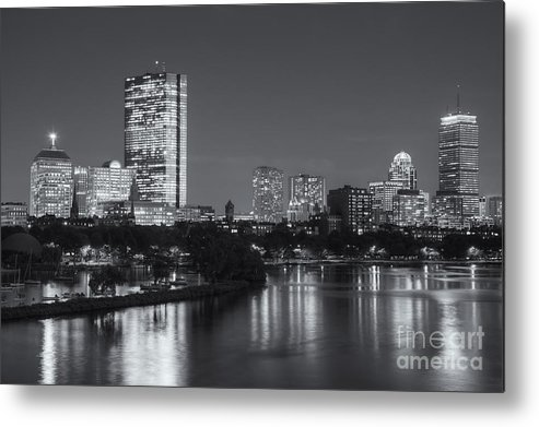 Clarence Holmes Metal Print featuring the photograph Boston Night Skyline V by Clarence Holmes