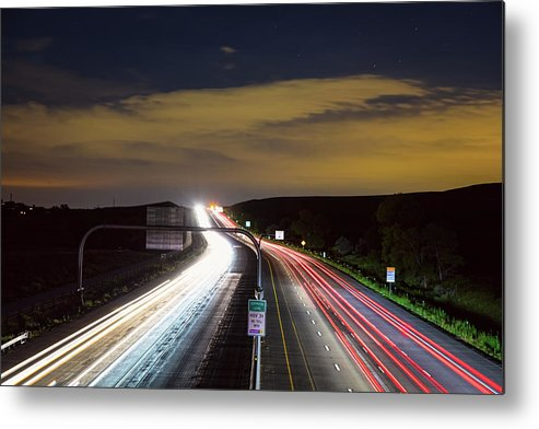 Highway Metal Print featuring the photograph Boulder To Denver Highway 36 Express Lane by James BO Insogna