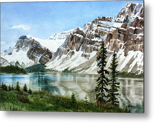 Bow Lake Metal Print featuring the painting Bow Lake Alberta No.2 by Debbie Homewood