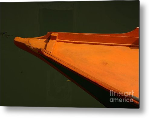 Boat Metal Print featuring the photograph Bow Of Boat In Venice by Michael Henderson
