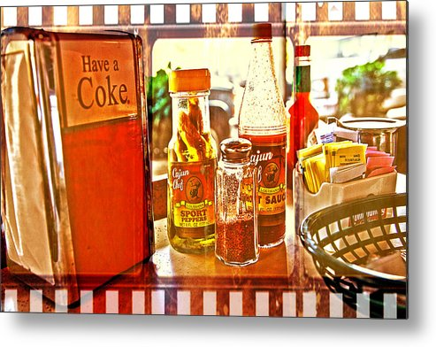Breakfast Metal Print featuring the photograph Breakfast At Paul's by Toni Hopper