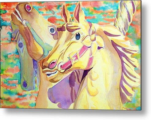 Carousel Metal Print featuring the painting Breaking Free by Janice Gell