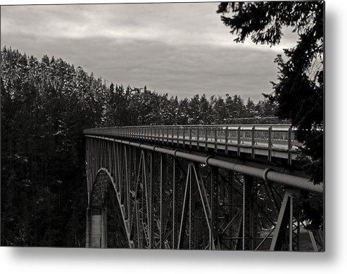 Photography Metal Print featuring the photograph Bridge To Dawn by Joel Brady-Power