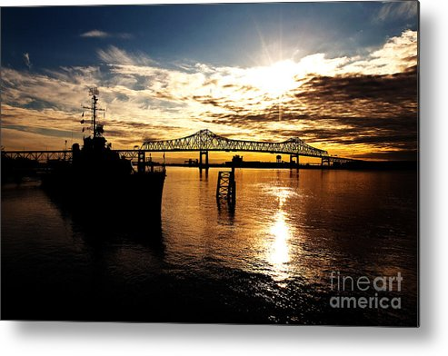 Sunset Metal Print featuring the photograph Bright Time On The River by Scott Pellegrin