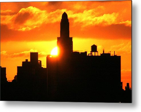 Brooklyn Metal Print featuring the photograph Brooklyn Dawn by Mario Belluomo