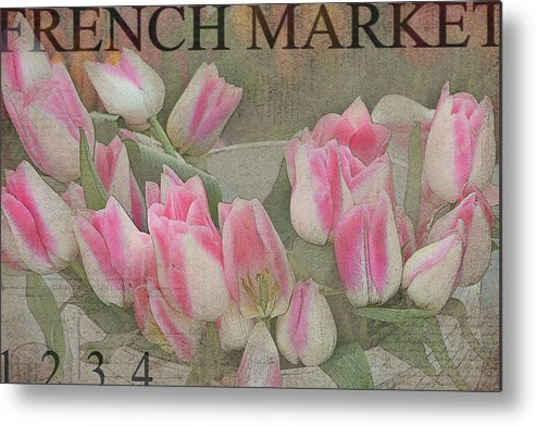 Tulips Metal Print featuring the photograph Bucketfull by Rebecca Cozart