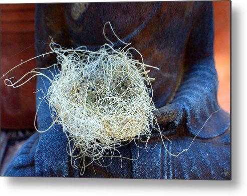 Spiritual Metal Print featuring the photograph Buddah's Nest by Heather S Huston
