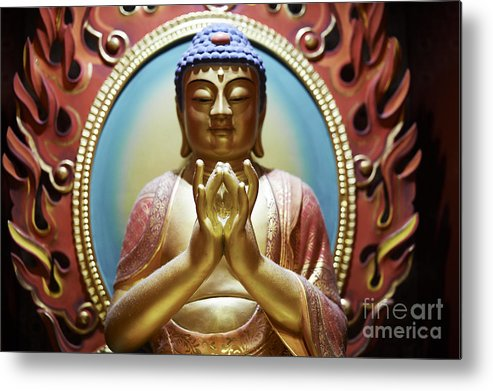 Buddha Metal Print featuring the photograph Buddha Tooth Relic Temple 1 by Dean Harte