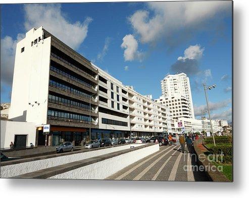 Ponta Delgada Metal Print featuring the photograph Buildings In Ponta Delgada by Gaspar Avila