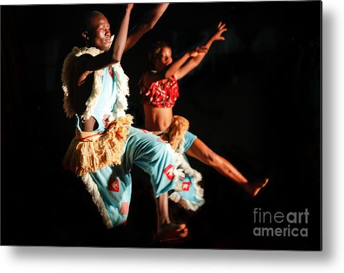 People Metal Print featuring the photograph Burkinabe Dancers I by Irene Abdou