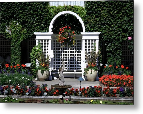 Flowers Metal Print featuring the digital art Bushart Gardens by Mary Gaines