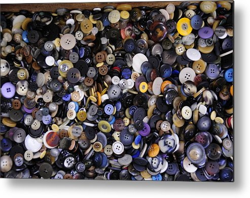 Buttons Metal Print featuring the photograph Buttons by David Arment
