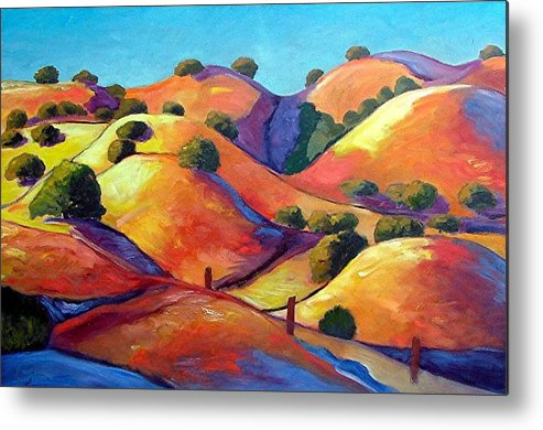 Curves Metal Print featuring the painting Ca Rollers by Gary Coleman