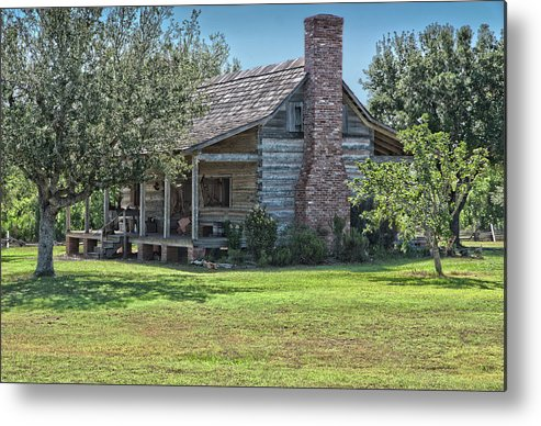 Texas Heritage Metal Print featuring the photograph Cabin1 by James Woody
