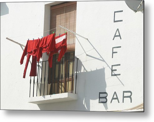 Photographer Metal Print featuring the photograph Cafe Clothing by Jez C Self