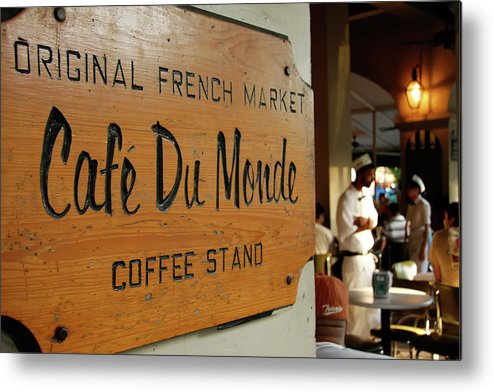 Cafe Du Monde Metal Print featuring the photograph Cafe Du Monde by KG Thienemann