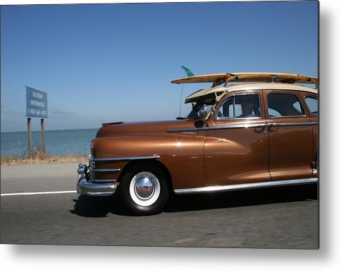Vintage Car Metal Print featuring the photograph California Dreaming by Linda Russell