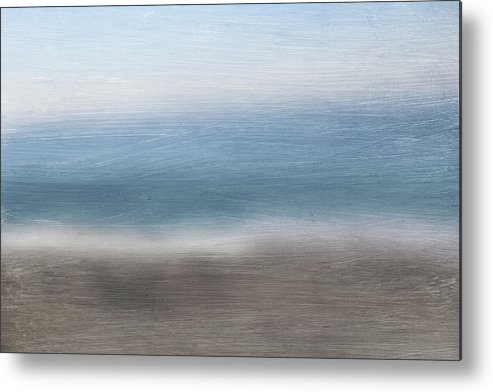Beach Metal Print featuring the mixed media Calm Coast 2- Art By Linda Woods by Linda Woods