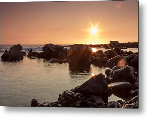 Ocean Metal Print featuring the photograph Calm Waters by Michael Medina