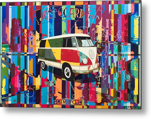Vw Bus Metal Print featuring the painting Camouflage by Alfred Degens