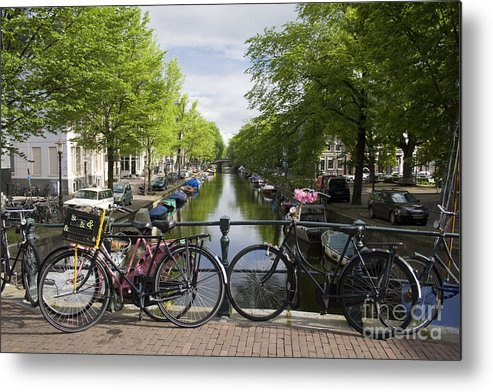 Amsterdam Metal Print featuring the photograph Canal Of Amsterdam by Joshua Francia