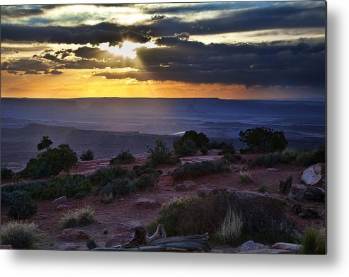 Utah Metal Print featuring the photograph Canyonlands Sunset by James Garrison