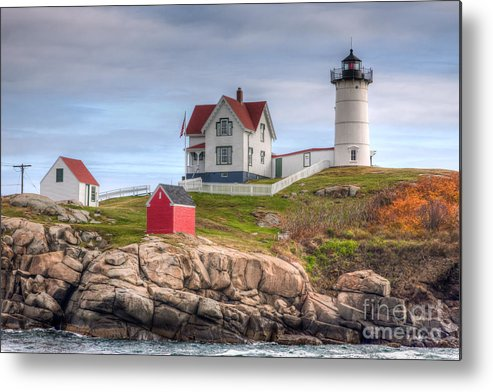 America Metal Print featuring the photograph Cape Neddick Nubble Lighthouse I by Clarence Holmes