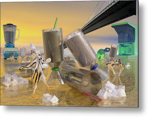 3d Metal Print featuring the painting Caramel Mochiato by Williem McWhorter