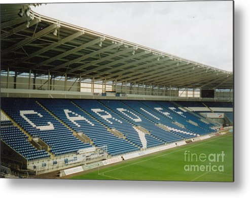 Cardiff City Metal Print featuring the photograph Cardiff - City Stadium - East Stand 1 - July 2010 by Legendary Football Grounds
