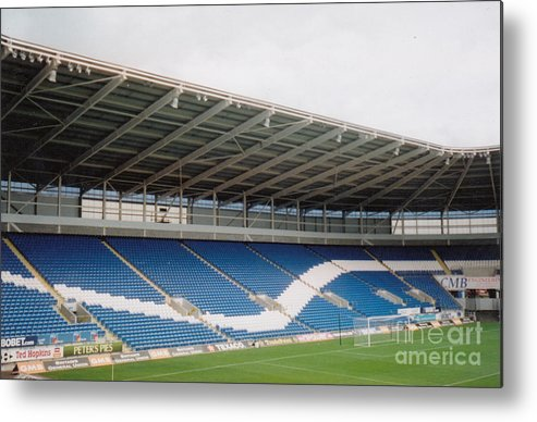 Cardiff City Metal Print featuring the photograph Cardiff - City Stadium - North Stand 1 - July 2010 by Legendary Football Grounds