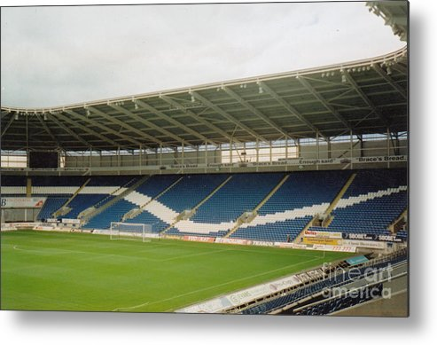 Cardiff City Metal Print featuring the photograph Cardiff - City Stadium - South Stand 1 - July 2010 by Legendary Football Grounds