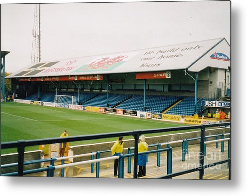 Cardiff City Metal Print featuring the photograph Cardiff - Ninian Park - North Stand 3 - October 2004 by Legendary Football Grounds