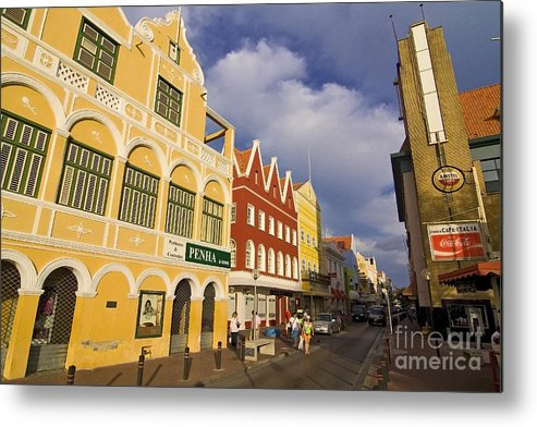 Curacao Metal Print featuring the photograph Caribbean Shopping District by Sven Brogren