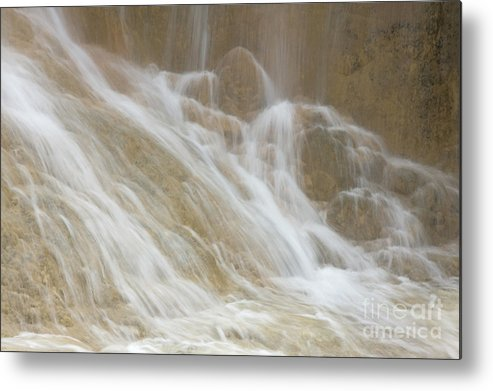 Nature Metal Print featuring the photograph Cascade By The Limestone Pools In Huanglong by Julia Hiebaum