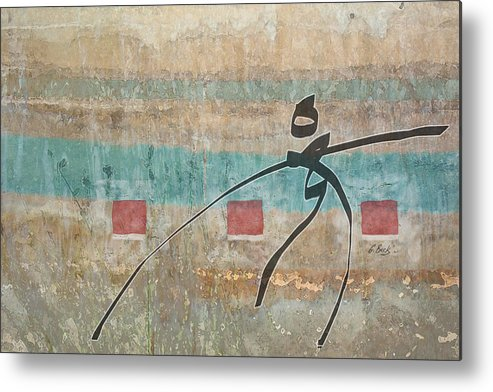 Contemporary Asian Japanese Oriental Abstract Design Gordon Beck Art Metal Print featuring the painting Casting About by Gordon Beck