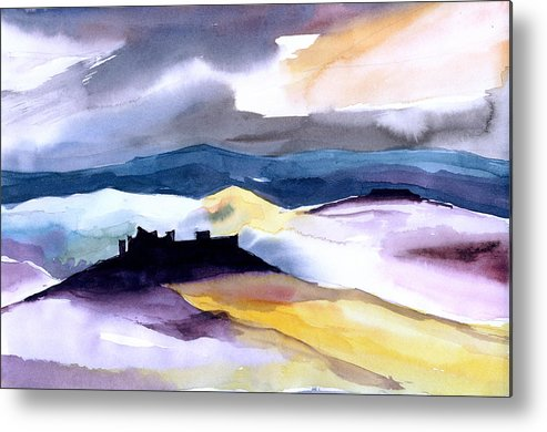 Water Metal Print featuring the painting Castle by Anil Nene