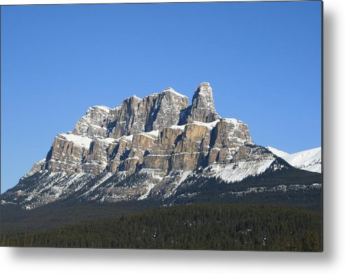 Cascade Mountain Metal Print featuring the photograph Castle Mountain Winter by Tiffany Vest