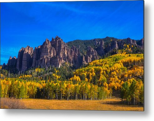 Rock Formations Metal Print featuring the photograph Castles by David Ross