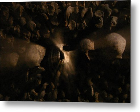 Metal Print featuring the photograph Catacombs - Paria France 3 by Jennifer McDuffie