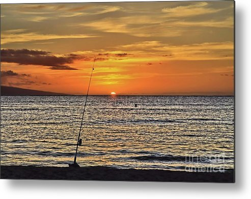 Sunset Metal Print featuring the photograph Catch Of The Day by DJ Florek